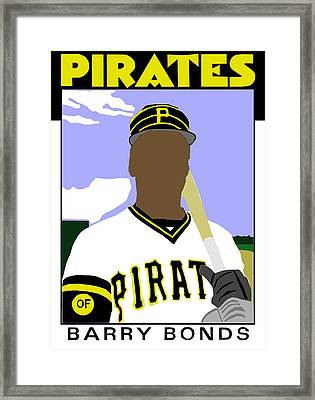 1986 Barry Bonds Framed Print by Michael Levine