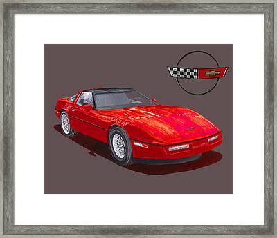 1986 Corvette Framed Print