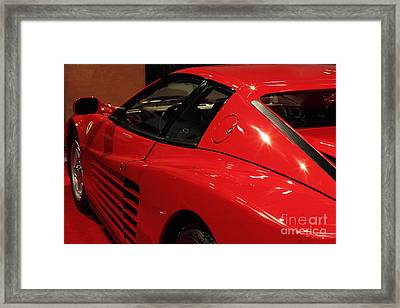 1986 Ferrari Testarossa - 5d20030 Framed Print by Wingsdomain Art and Photography