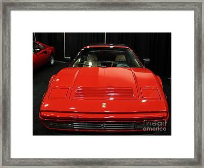 1987 Ferrari 328 Gts - 5d19811 Framed Print by Wingsdomain Art and Photography