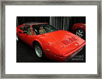 1987 Ferrari 328 Gts - 5d19816 Framed Print by Wingsdomain Art and Photography