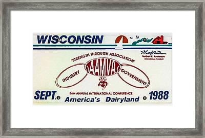 1988 Wisconsin Framed Print