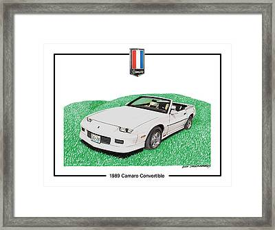1989 Camaro Convertible Framed Print by Jack Pumphrey