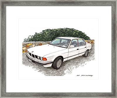 1990 B M W 750i Framed Print by Jack Pumphrey