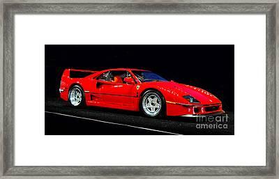 1990 Ferrari F40 Framed Print