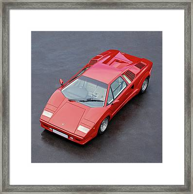 1990 Lamborghini Countach Qv Framed Print by Panoramic Images