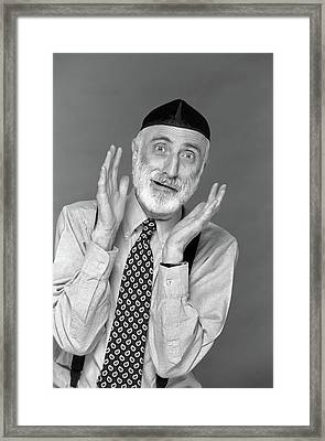 1990s Character Portrait Man Gray Beard Framed Print