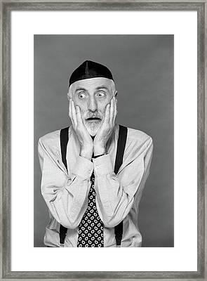 1990s Portrait Jewish Man Gray Beard Framed Print