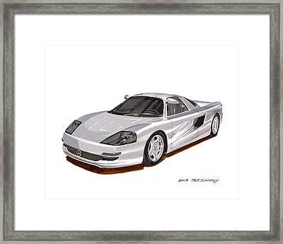 1991 Mercedes Benz C 112 Concept Framed Print
