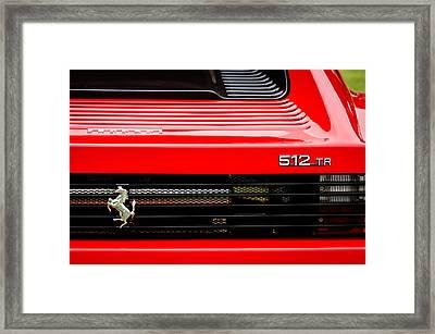 1993 Ferrari 512 Tr Taillight Emblem -0352c Framed Print