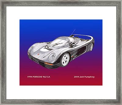 1994 Porsche 962 C A Framed Print by Jack Pumphrey