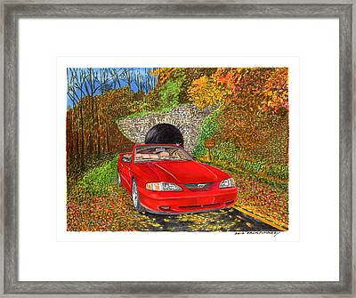 1996 Ford Mustang Gt In Fall Colors Framed Print