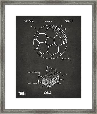 1996 Soccerball Patent Artwork - Gray Framed Print