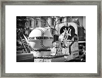 1996 Yankees Float Framed Print by John Rizzuto