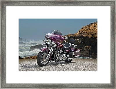 1997 Harley-davidson Road King Framed Print by Dave Koontz
