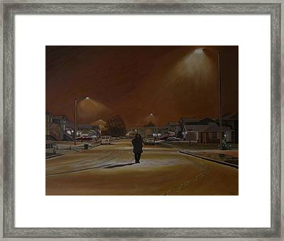 1997-my First Snowy Winter Framed Print by Thu Nguyen