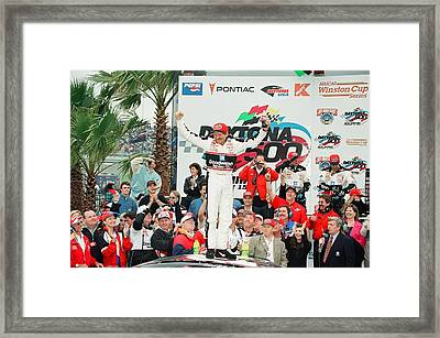 1998 Daytona 500 Champ Dale Earnhardt Framed Print by Retro Images Archive