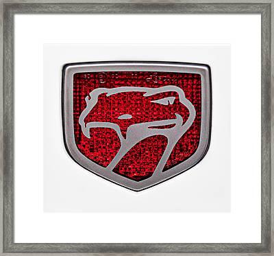 1998 Dodge Viper Gts-r Emblem Framed Print