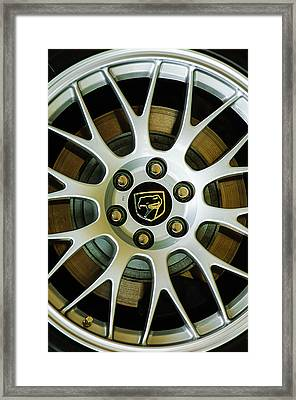 1998 Dodge Viper Gts-r Wheel Emblem Framed Print