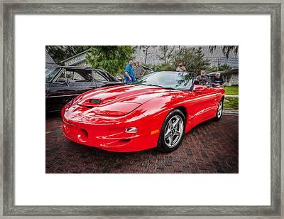 1999 Pontiac Trans Am Anniversary Edition Painted Framed Print