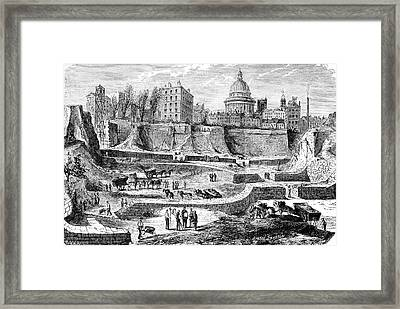 19th C Archaeological Excavations Framed Print