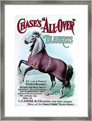 19th C. Chase's Horse Blankets Framed Print