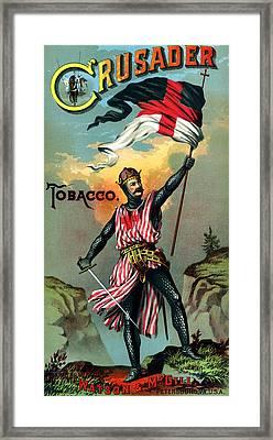 19th C. Crusader Brand Tobacco Framed Print