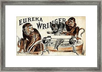 19th C. Eureka Wringer Framed Print by Historic Image