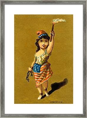 19th C. Lady Liberty  Framed Print