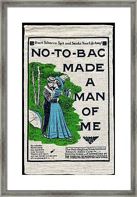 19th C Smoking Substitute Advertisement Framed Print