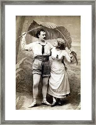 19th C. Young Couple In Love Framed Print
