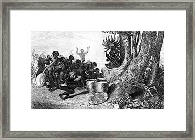 19th Century African Religious Ceremony Framed Print by Collection Abecasis