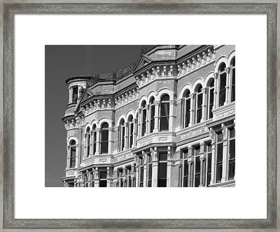 19th Century Architecture Bw Framed Print by Connie Fox