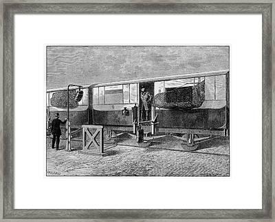 19th Century British Mail Train Framed Print