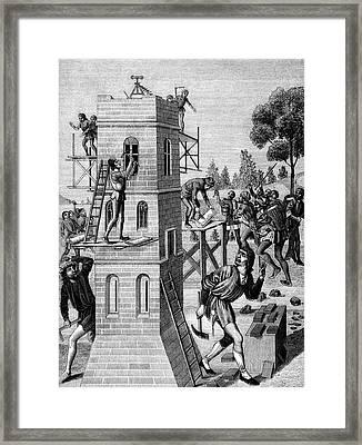 19th Century Builders Framed Print