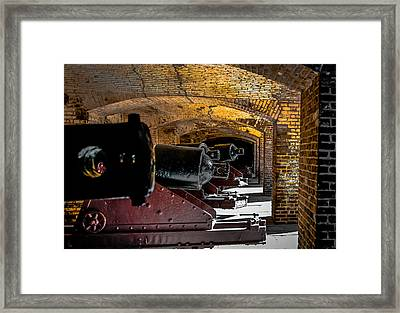 19th Century Cannon Line Framed Print by Optical Playground By MP Ray