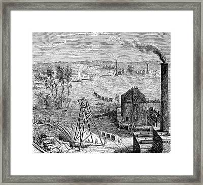 19th Century Coal Mine Framed Print by Collection Abecasis