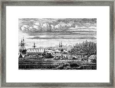 19th Century Cod Fishermen Framed Print