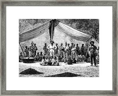 19th Century Coffee Farmers Framed Print