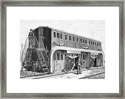 19th Century Double-decker Train Carriage Framed Print