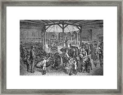 19th Century Dresden Milk Bar Framed Print by Bildagentur-online/tschanz
