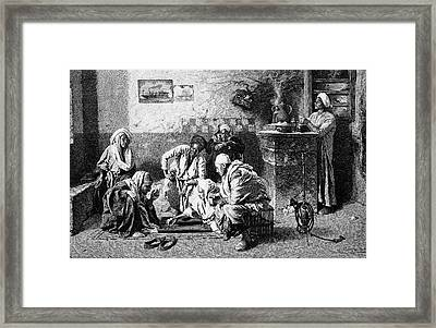 19th Century Egyptian Backgammon Players Framed Print