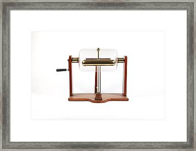 19th Century Electrostatic Drum Machine Framed Print by Science Photo Library
