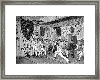 19th Century Fencers Training Framed Print by Collection Abecasis