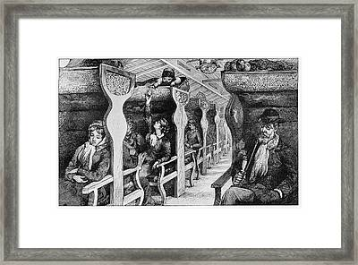 19th Century French Emigrants Framed Print by Cci Archives