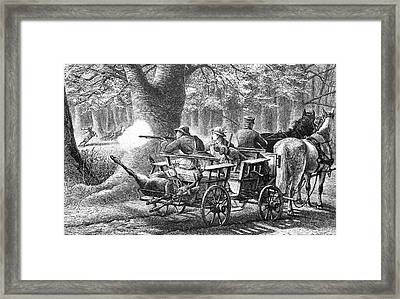 19th Century Game Drive Framed Print