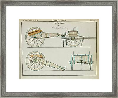 19th Century German Artillery Piece Framed Print