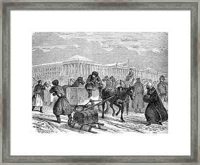 19th Century Ice Transportation Framed Print by Collection Abecasis