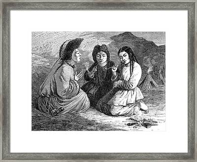 19th Century Khalkha Women Framed Print by Collection Abecasis