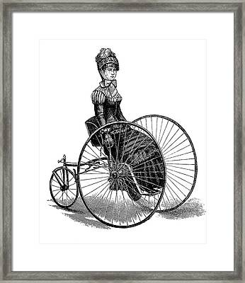 19th Century Ladies Handcar Framed Print by Bildagentur-online/tschanz